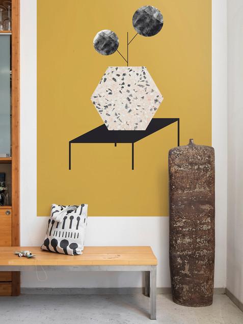 Obrazová tapeta Table ochre