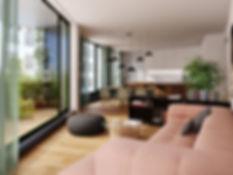 Komunardů 35, obývací pokoj