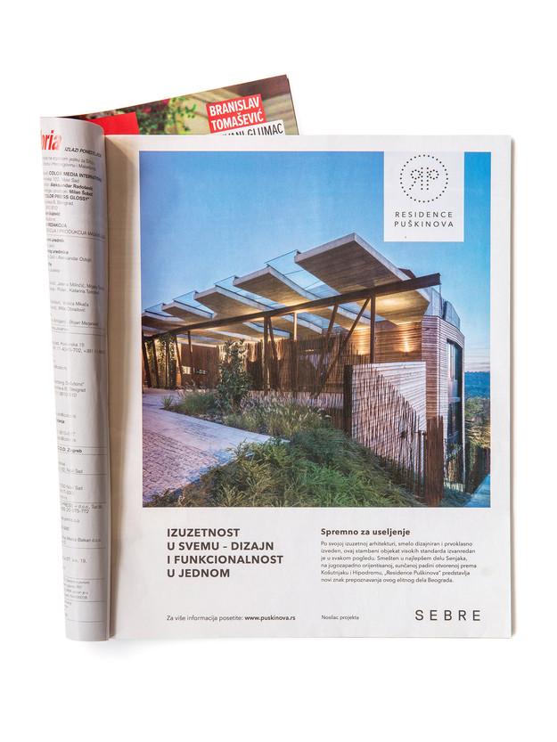 Inzerce v srbském magazínu