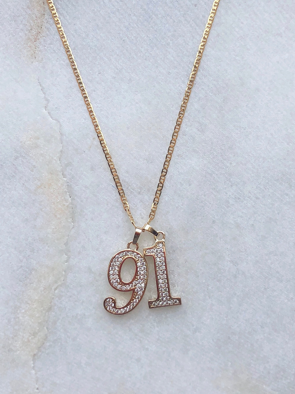 CUSTOM YEAR / LUCKY NUMBER NECKLACE