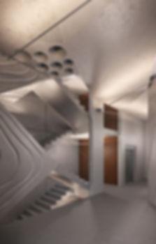 Komunardů 35, schodiště