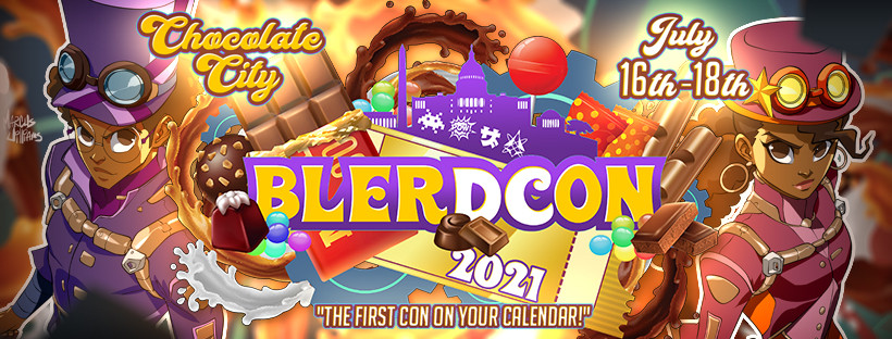 A picture of the Blerdcon Chocolate City Banner