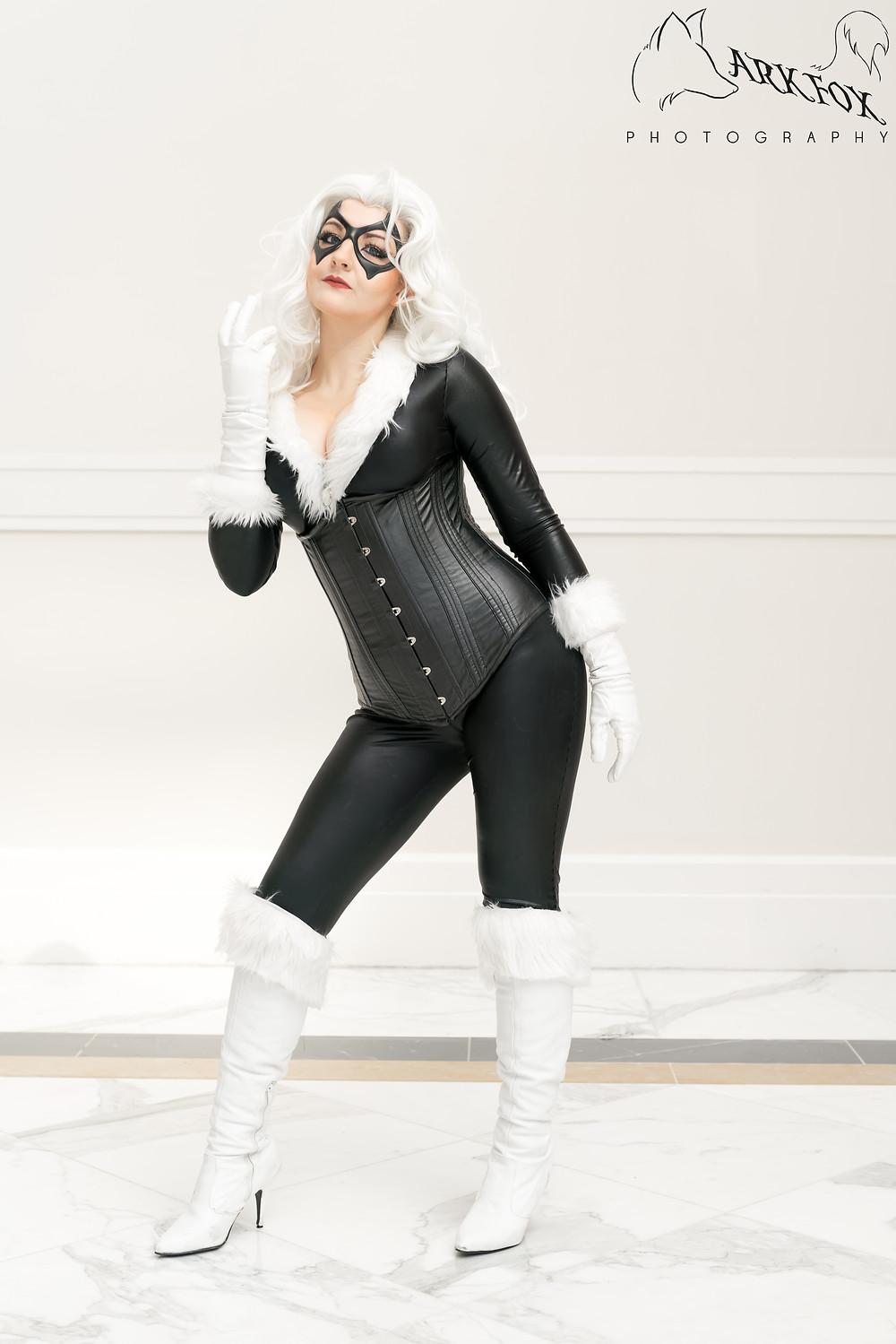 Woman cosplaying as Black Cat at Katsucon 2018