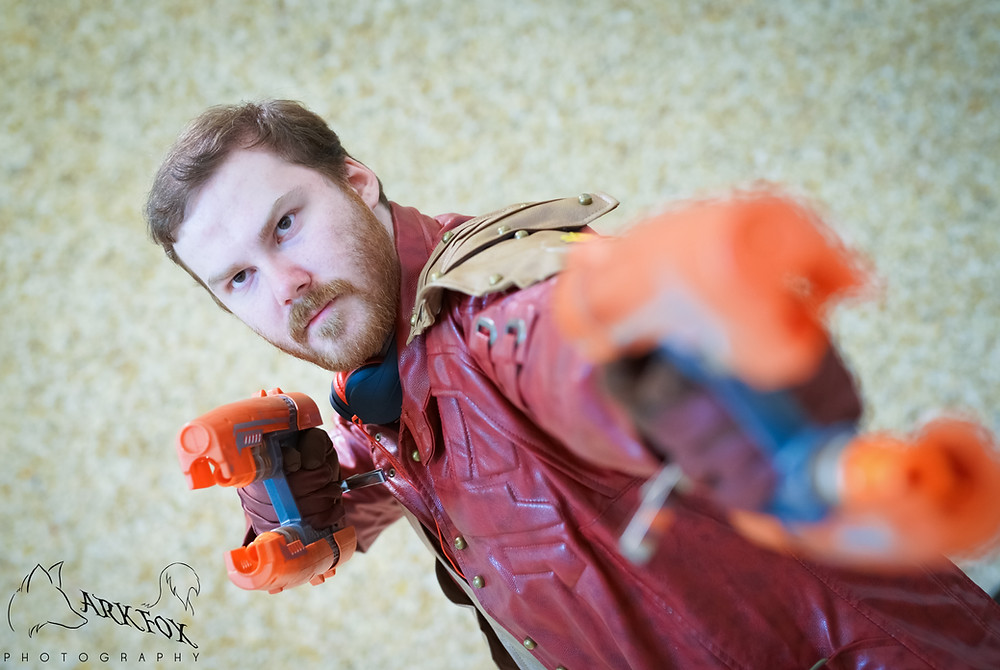 Man in Star Lord Cosplay from Guardians of the galaxy