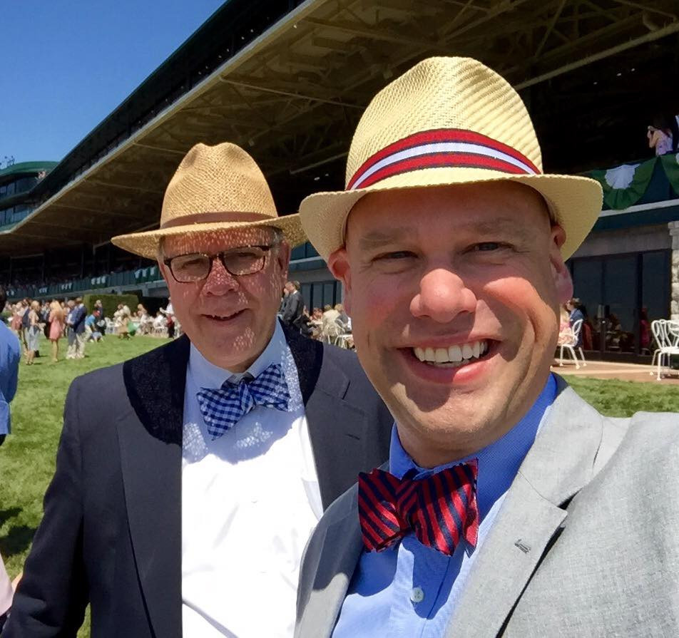 Kevin and Jim Albrecht at Keenland