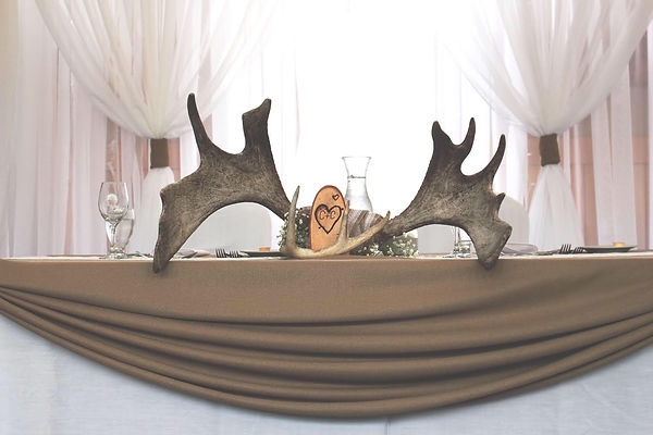 head table moose anthlers