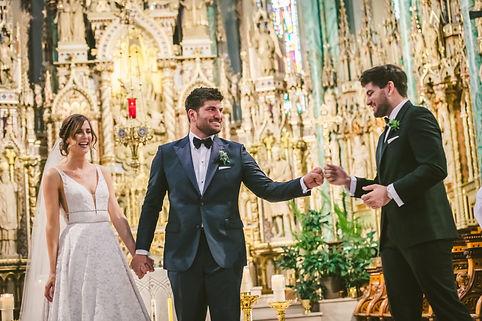 Ottawa Ceremony couple with best man