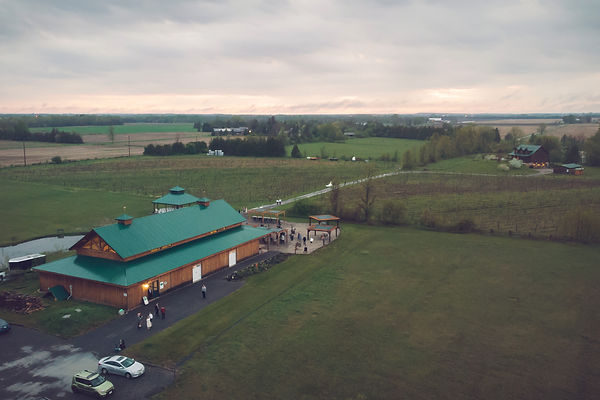 Ottawa Wedding Photography Jabulani Winery Drone Shot Sky View