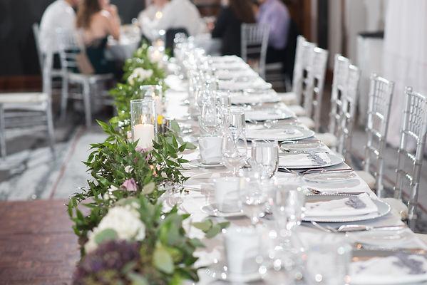 Wedding head table garland