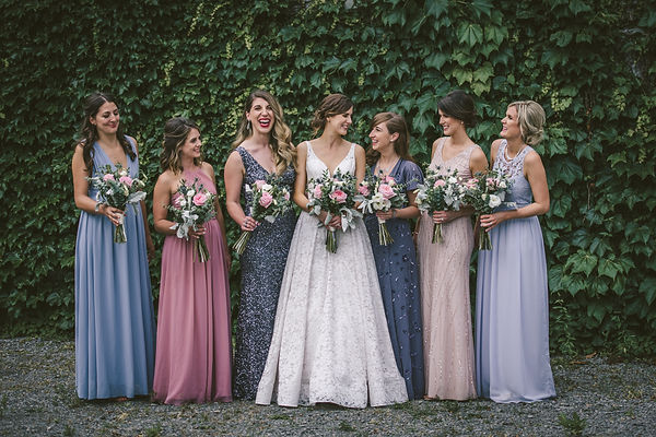 Ottawa Wedding Photography Bridesmaids with florals