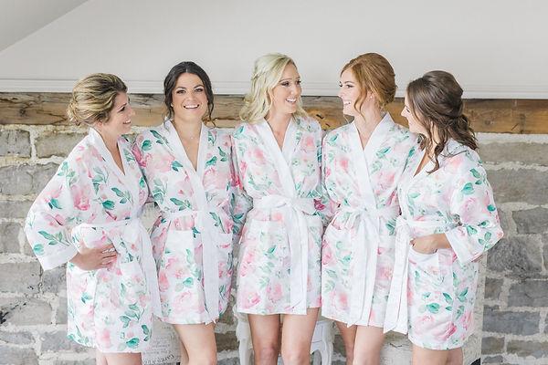 Ottawa Wedding Photography Bride and bridemaids robes Stonefields Estate