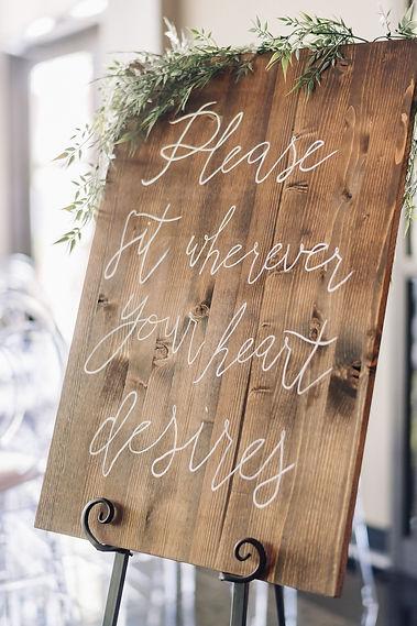 Ottawa Wedding Photography Ceremony Sign Byfield Pitman