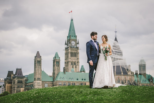 Ottawa Wedding Photography Couple Shot Parliament Hill