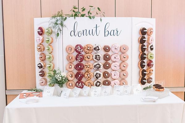 Wedding Donut Bar Reception