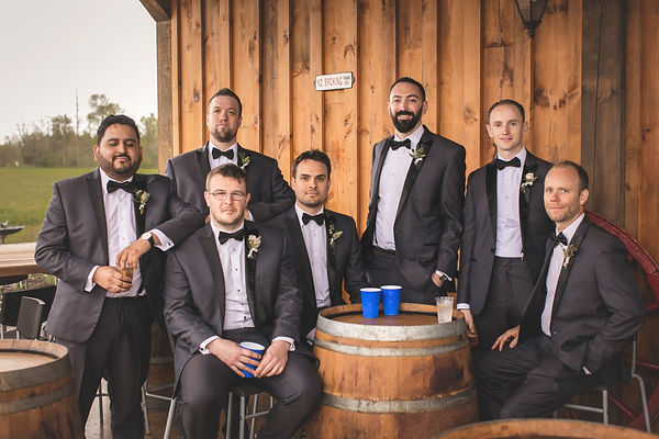 Ottawa Wedding Outdoor Photography Groom and Groomsmen