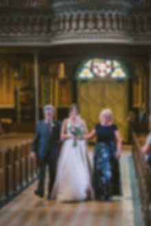 Ottawa Wedding Photography Bride Walking Down Aisle Notre Dame Cathedral