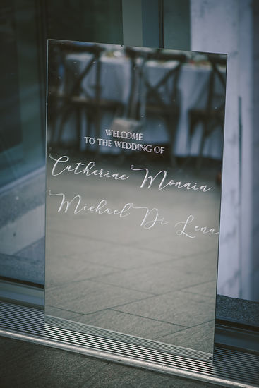Ottawa Wedding photography Reception Welcome Sign National Art Gallery