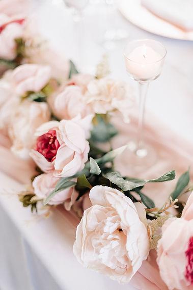 Ottawa Wedding Photography Blush Flowere Reception Decor