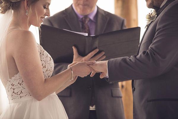 Ottawa wedding ceremony ring exchange