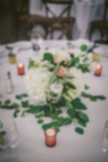 Ottawa Wedding Photography Reception Centrepiece Natural Flowers Rose Gold Candles