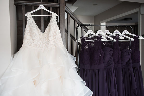 Bride and bridesmaids gowns