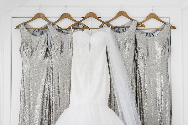 Ottawa Wedding Photography Bride Gown with silver sequin bridesmaids dresses