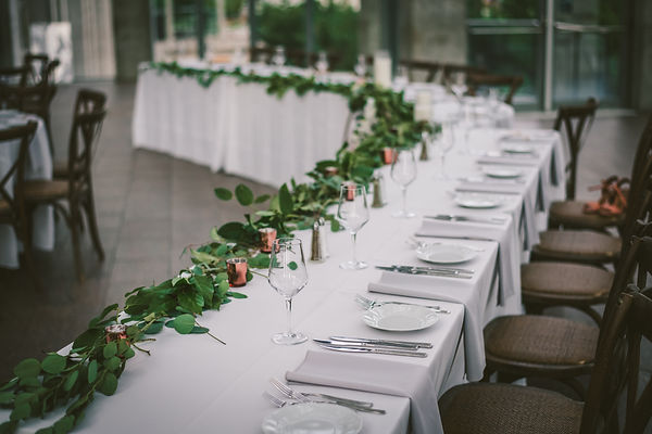 Ottawa Wedding Photography Reception Head Table Simple Elegant Decor National Art Gallery