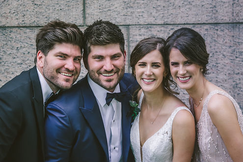 Ottawa Wedding couple with best man and maid of honour