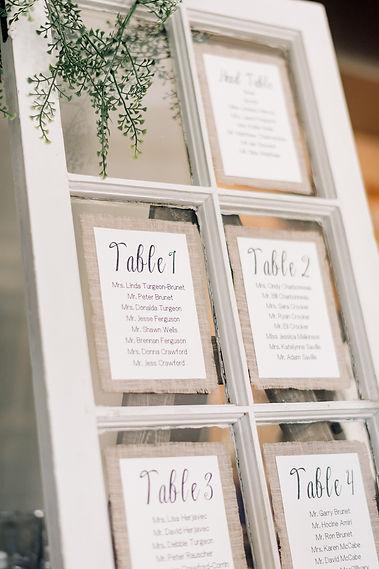 Ottawa Wedding Photography Reception Decor Seating Chart
