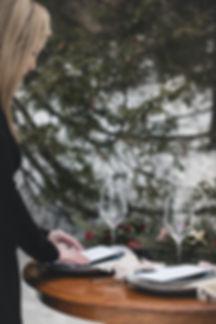 Wedding stationneries menu and name card simple elegant minimalist Wedding Planner in Ottawa
