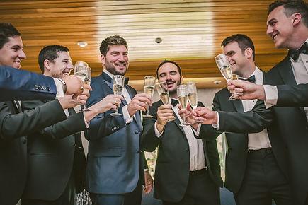 Ottawa groom getting ready champagne