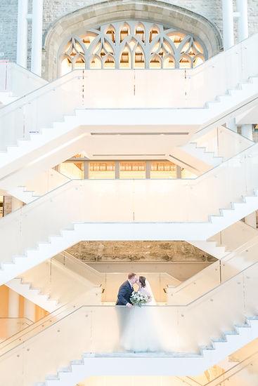 Ottawa Nature Museum Wedding Stairs Photography