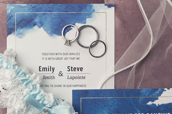 Ottawa Wedding Flatlay details invitation ring photography