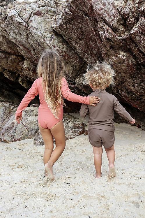 Sustainable Swimwear -  Long Sleeve One-Piece