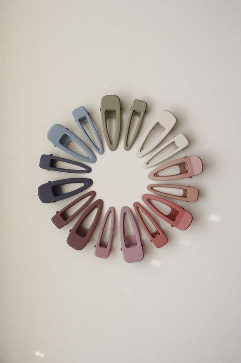 matte clips (mini) - set of 2