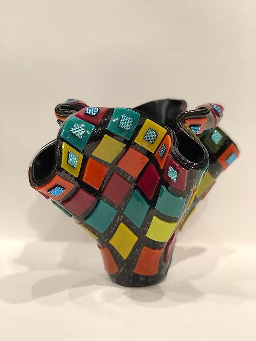 Grandmother's Quilt Vase