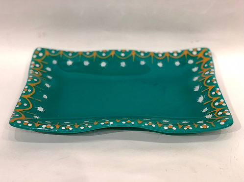 One of a kind Fused Glass Dish