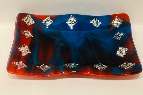 Pimento Red & Egyptian Blue,Food Friendly Serving Platter
