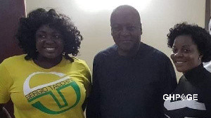(Watch) Gloria Kani and Tracey Boakye have disgraced Mahama and the NDC Party - Ghanaian mc in UK