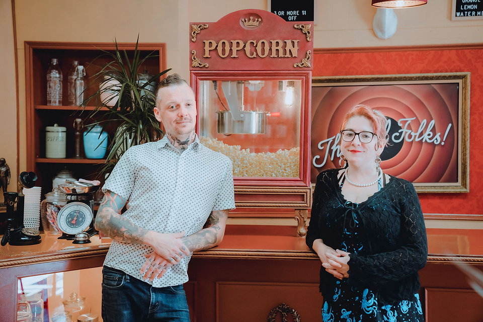 Leigh and Carla with Popcorn Machine.jpg