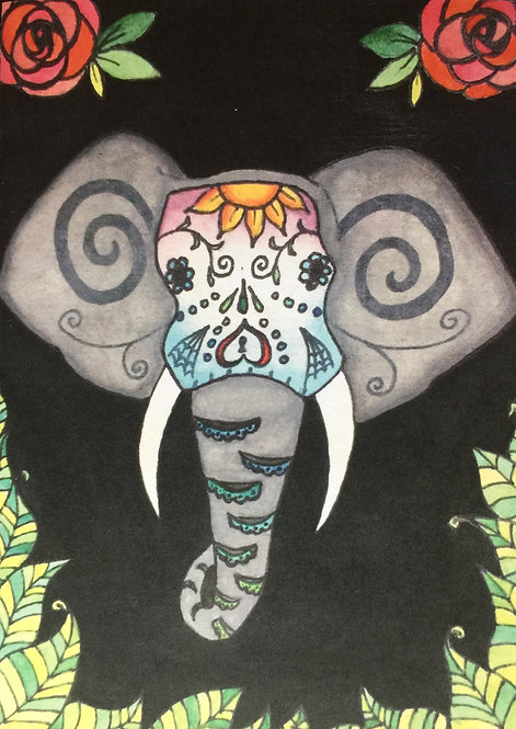 Sugar skull elephant