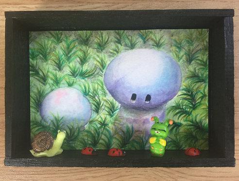 Purple mushrooms and friends
