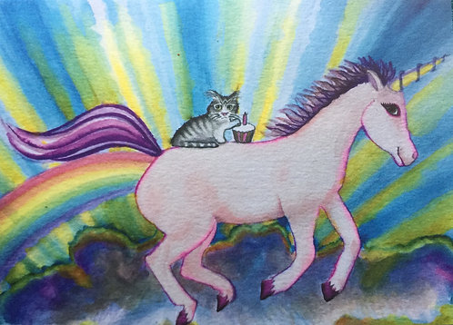 Birthday unicorn ride