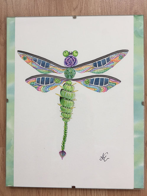 Solar succulent robot dragonfly