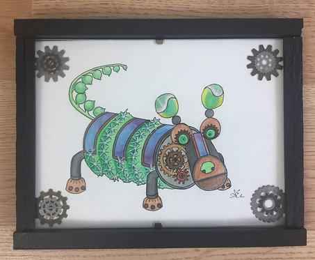Solar succulent robot dog