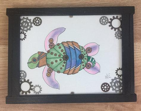 Solar succulent robot turtle