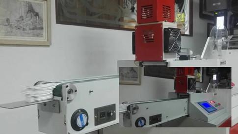 Cortador sónico marquillas satín e impresora TSC