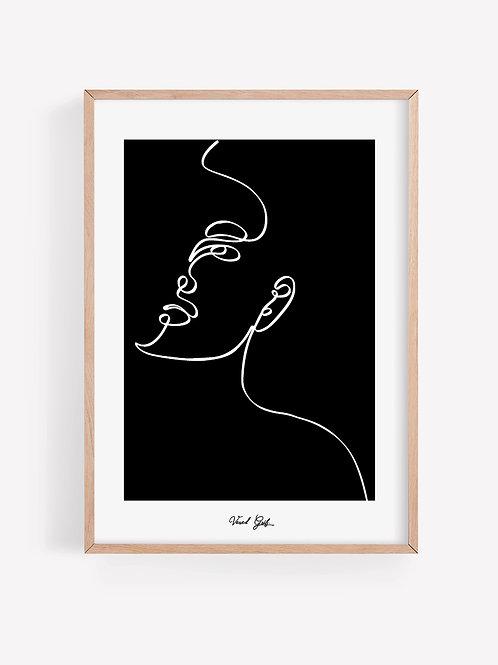 אישה - איור בקו | Line Art Woman