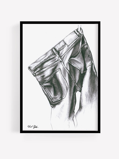 Hanging Jeans Drawin