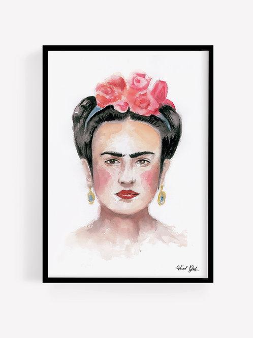 פרידה קאלו - ציור בצבעי מים | Frida Kahlo - Watercolor painting